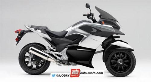Honda có thể sản xuất môtô 3 bánh