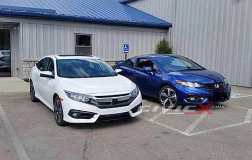 Honda Civic 2016 xuất hiện ngoài đời thực