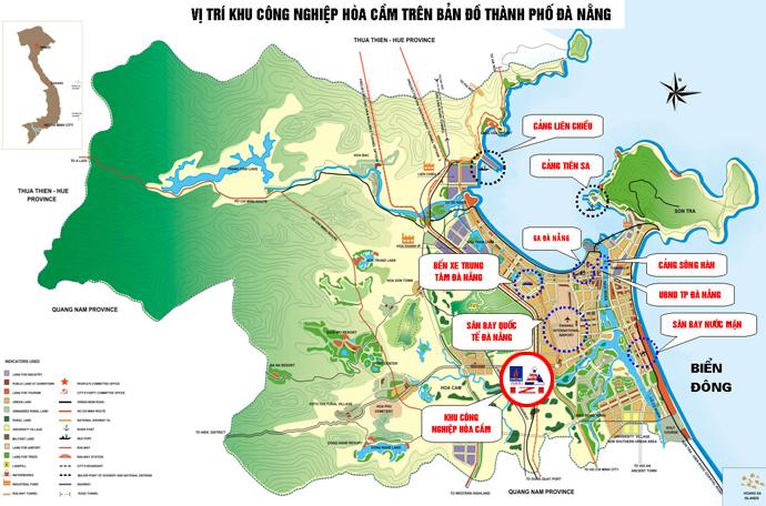 Bản đồ Đà Nẵng - Từ Đà Nẵng đi đèo Hải Vân bao nhiêu km