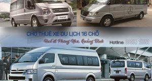 Giá thuê xe 16 chỗ Huế đi Phong Nha Quảng Bình | Thue xe 16 cho Hue di Phong Nha