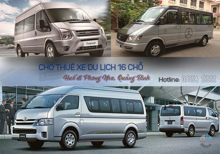 Cho thuê xe 16 chỗ Huế đi Phong Nha Quảng Bình cho thue xe o hue
