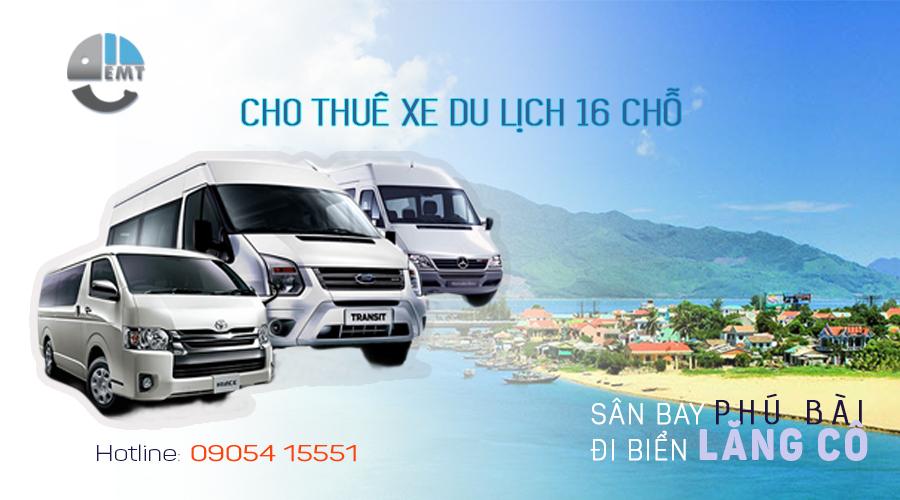 Giá thuê xe 16 chỗ sân bay Huế đi biển Lăng Cô