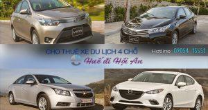 Giá thuê xe 4 chỗ Huế đi Hội An | Thue xe 4 cho Hue di Hoi An