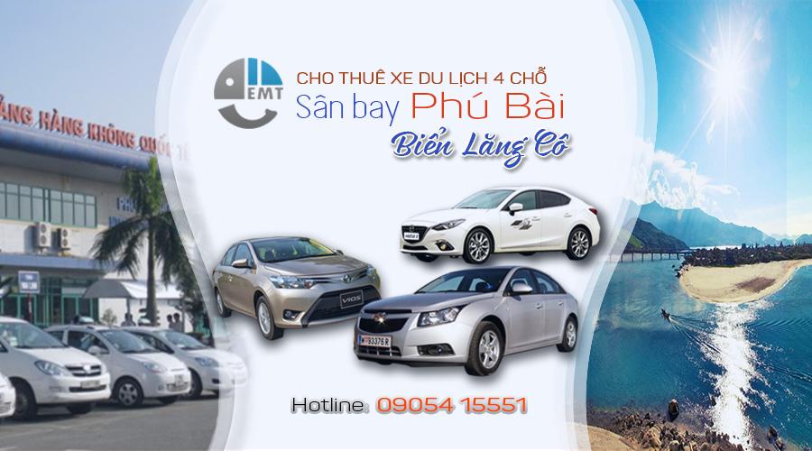 Giá thuê xe 4 chỗ sân bay Huế đi biển Lăng Cô