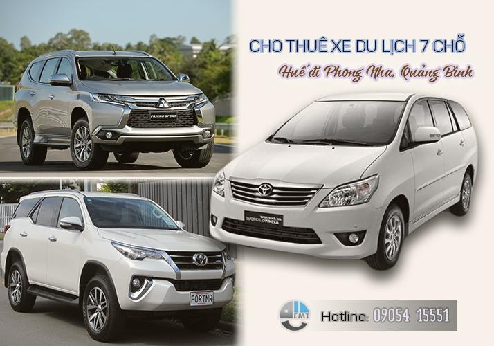 Giá thuê xe 7 chỗ Huế đi Phong Nha Quảng Bình