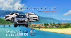 Giá thuê xe 7 chỗ sân bay Huế đi biển Lăng Cô | Thue xe 7 cho san bay Hue di bien Lang Co