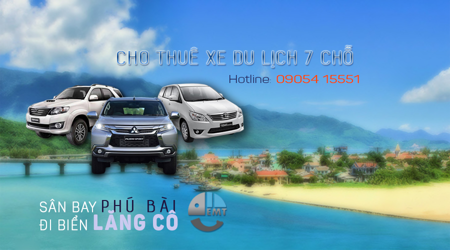 Thuê xe 7 chỗ sân bay Huế đi biển Lăng Cô thue xe 7 cho san bay hue di bien lang co