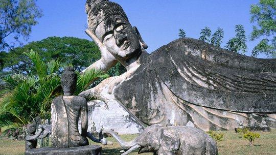 Vườn tượng Phật Viên Chăn, Du lịch Lào
