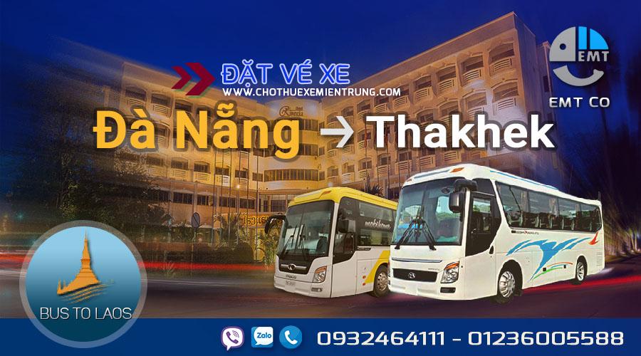 Xe Đà Nẵng đi Thakhet Lào giá rẻ