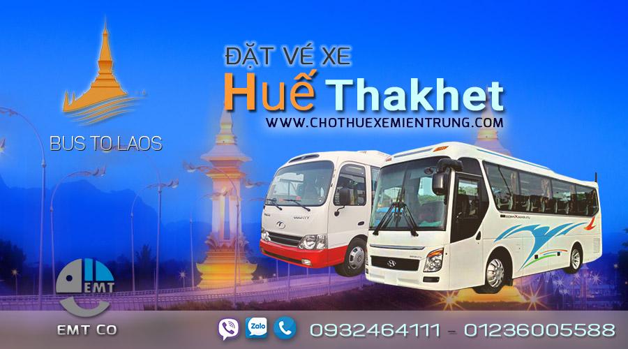 Xe từ Huế đi Thakhet Lào giá rẻ, xe hue di lao