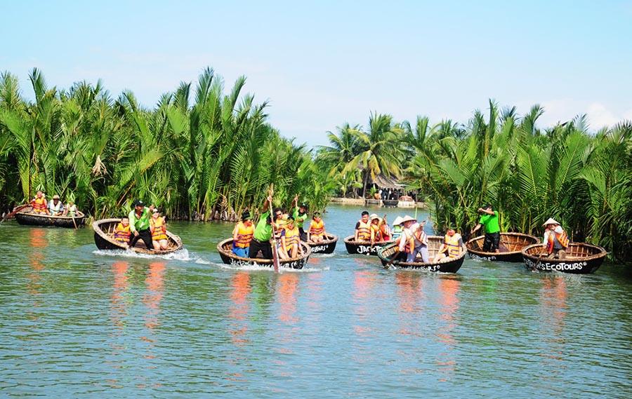 đi thuyền thúng rừng dừa Bảy mẫu Hội An