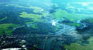 Cảnh đẹp Miền Trung yên bình nhìn từ ô kính máy bay