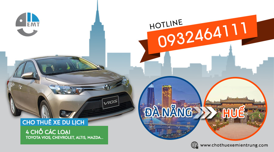 Giá thuê xe 4 chỗ Đà Nẵng đi Huế
