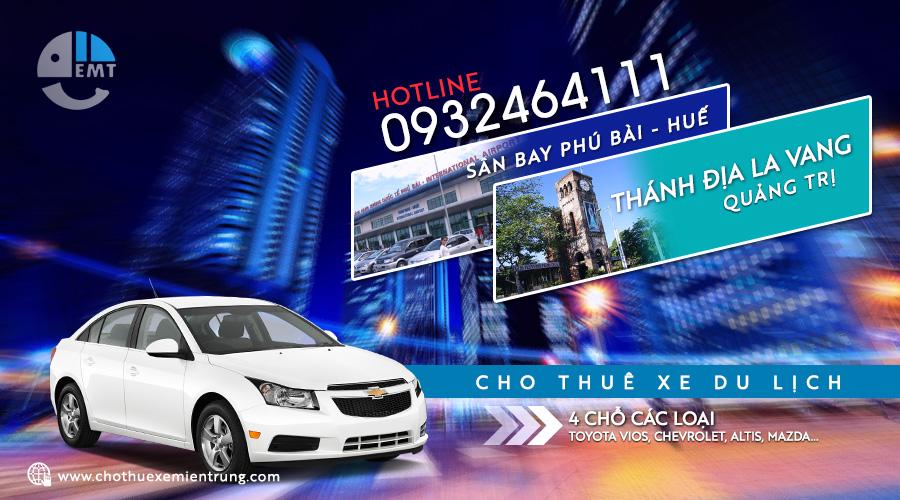 Cho thuê xe 4 chỗ Phú Bài đi thánh địa La Vang trả Huế