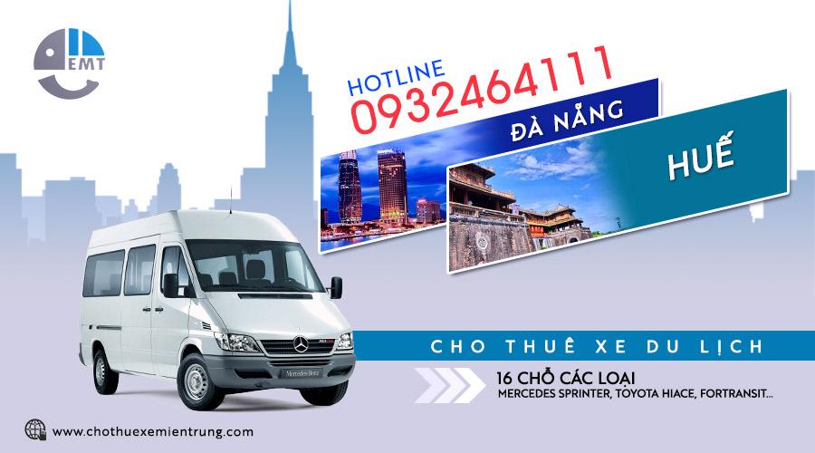 Giá thuê xe 16 chỗ Đà Nẵng đi Huế