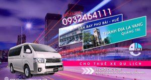 Giá thuê xe 16 chỗ sân bay Huế đi thánh địa La Vang trả Huế thue xe du lich o hue
