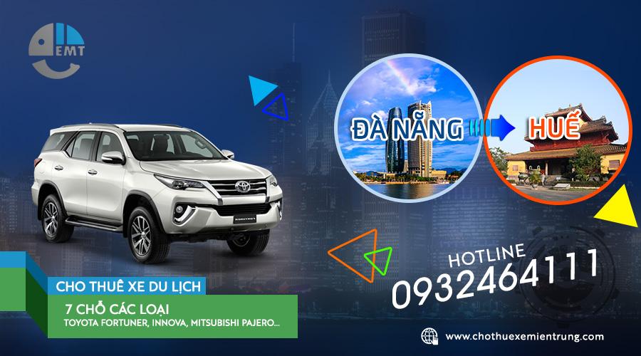 Giá thuê xe 7 chỗ từ Đà Nẵng đi Huế