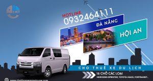 Giá thuê xe 16 chỗ Đà Nẵng đi Hội An