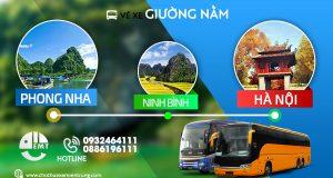 Vé xe giường nằm từ Phong Nha đi Hà Nội