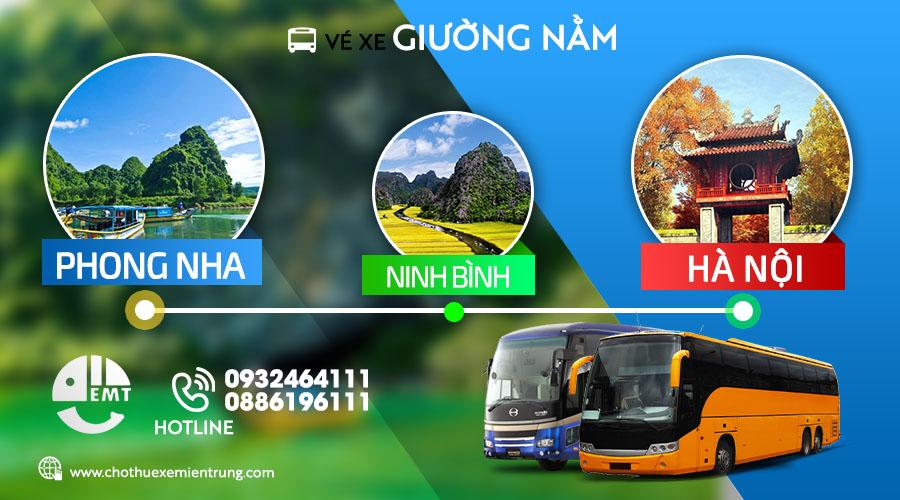 Vé xe giường nằm từ Phong Nha đi Ninh Bình – Hà Nội