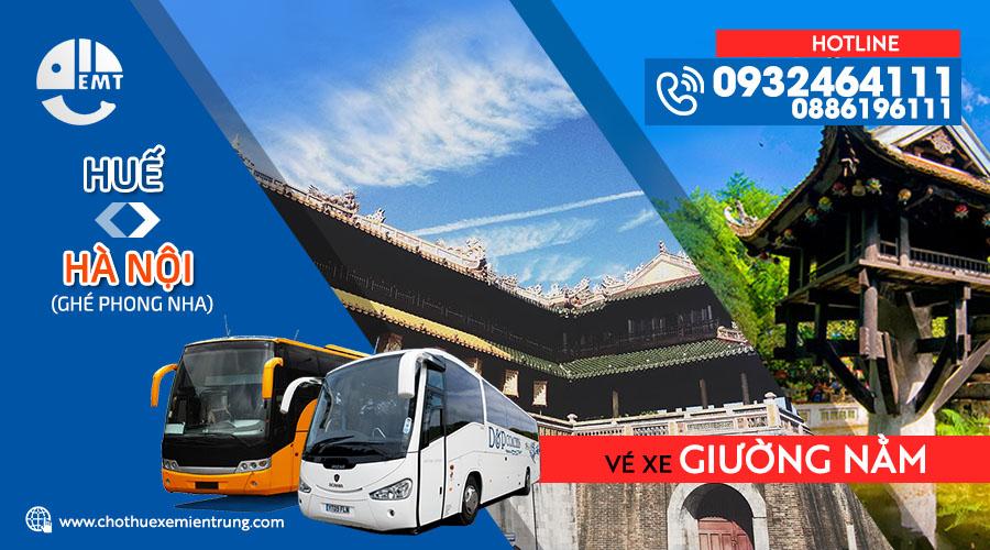 Vé xe giường nằm Huế đi Hà Nội (ghé Phong Nha)