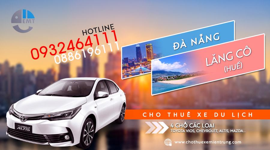 Thuê xe du lịch 4 chỗ Đà Nẵng đi Lăng Cô, Huế