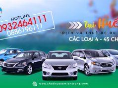 giá cho thuê xe du lịch tại huế
