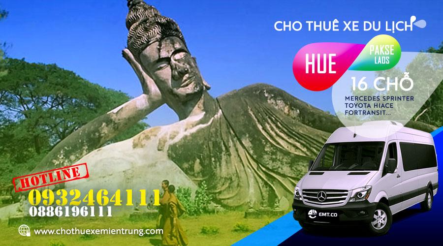 Thuê xe du lịch 16 chỗ từ Huế đi Pakse (Pắc xế) Lào