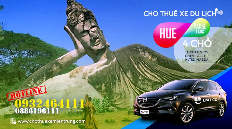 Thuê xe du lịch 4 chỗ từ Huế đi Pakse (Pắc xế) Lào