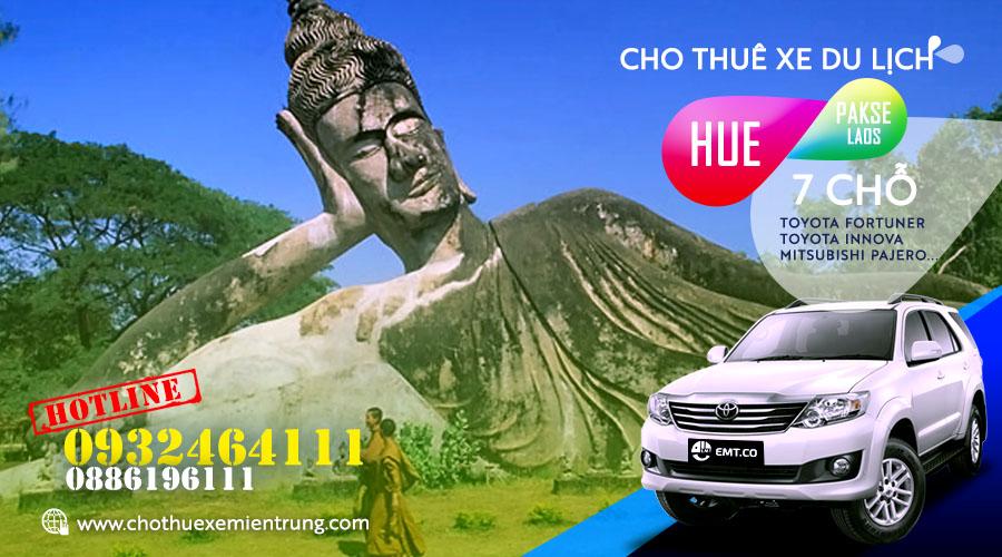 Thuê xe du lịch 7 chỗ từ Huế đi Pakse (Pắc xế) Lào