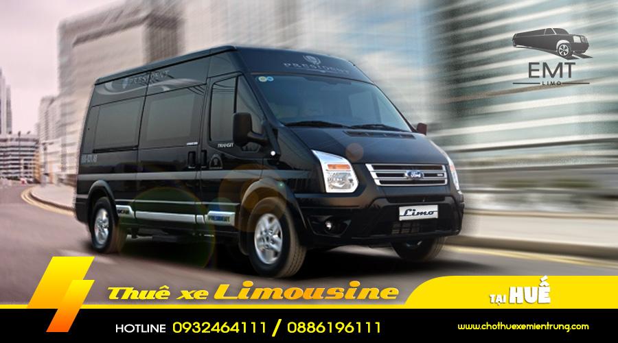 Giá thuê xe limousine 9-16 chỗ Huế Đà Nẵng