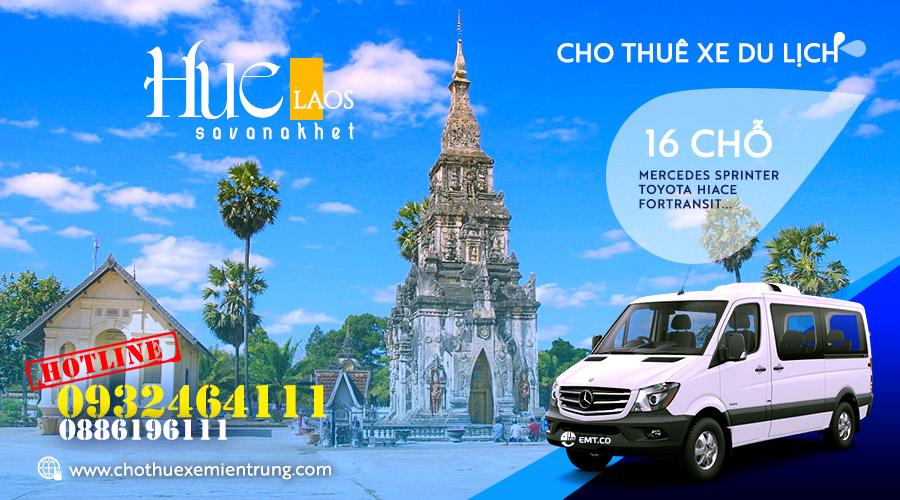 Thuê xe du lịch 16 chỗ từ Huế đi Savanakhet Lào