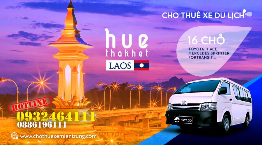 Thuê xe du lịch 16 chỗ từ Huế đi Thakhet Lào