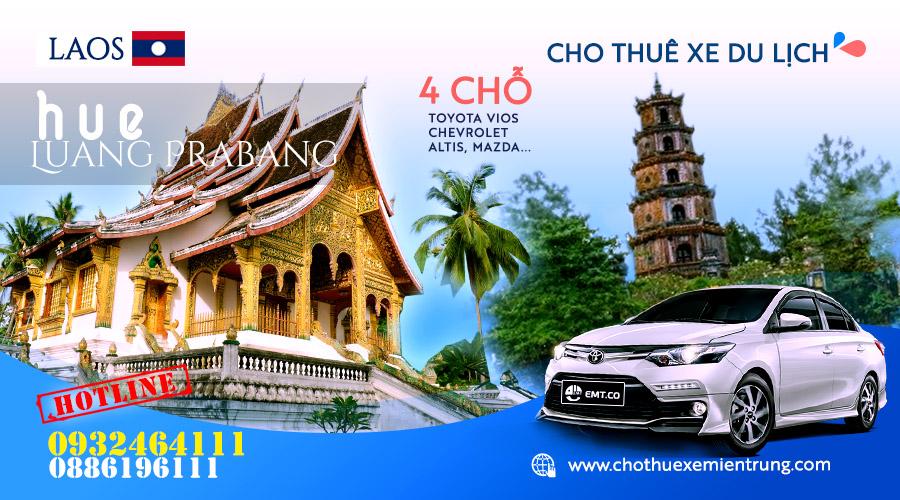 Thuê xe du lịch 4 chỗ từ Huế đi Luongphabang (Luang Prabang) – Lào