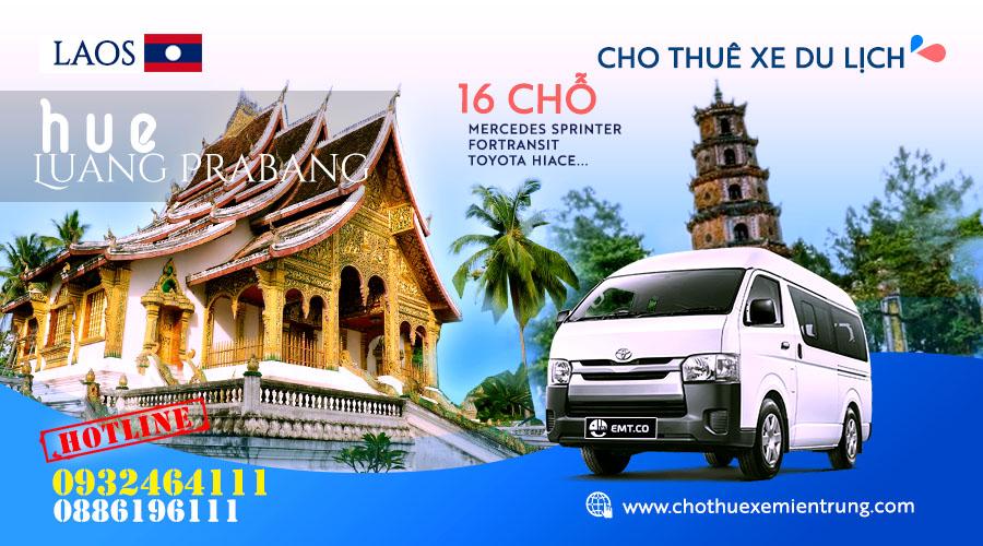 Cho thuê xe 16 chỗ từ Huế đi Luongphabang