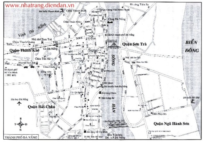 Bản đồ Quận 3 Đà Nẵng, Sơn Trà Ngũ Hành Sơn