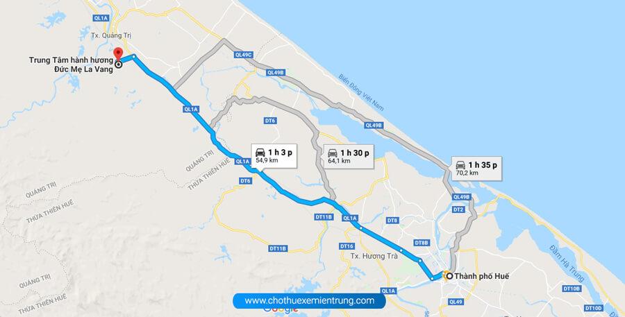 Xe từ Huế đi La Vang quảng trị