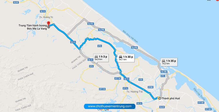 Từ Huế đi La Vang bao nhiêu km