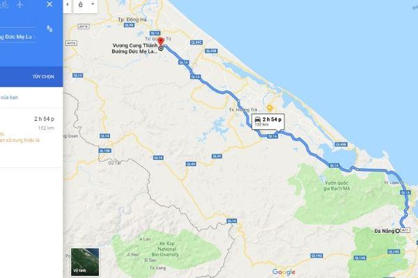 Từ Đà Nẵng đi La Vang bao nhiêu KM? Có phải là 182KM không?
