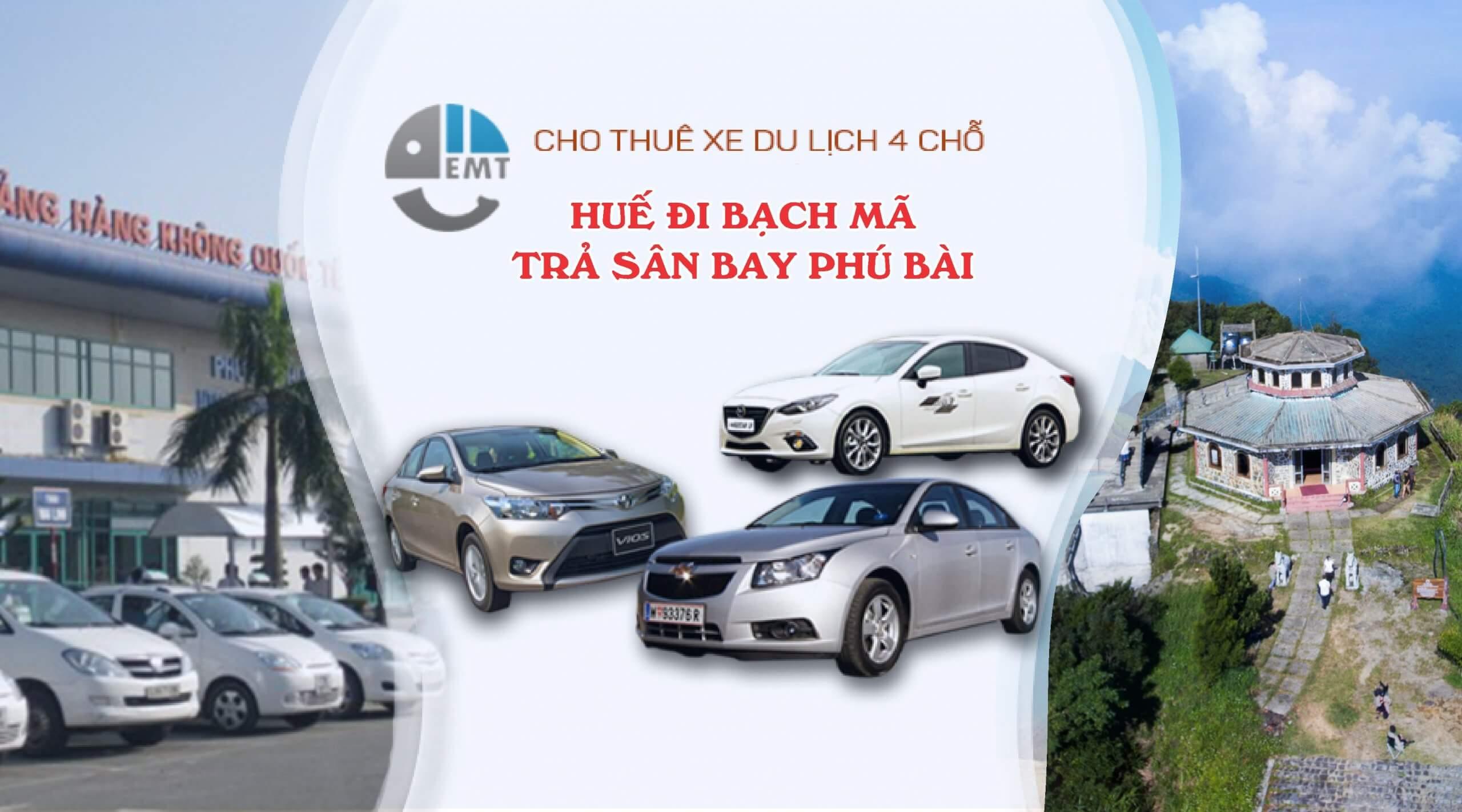 Cho thuê xe 4 chỗ Huế đi Bạch Mã trả sân bay Phú Bài