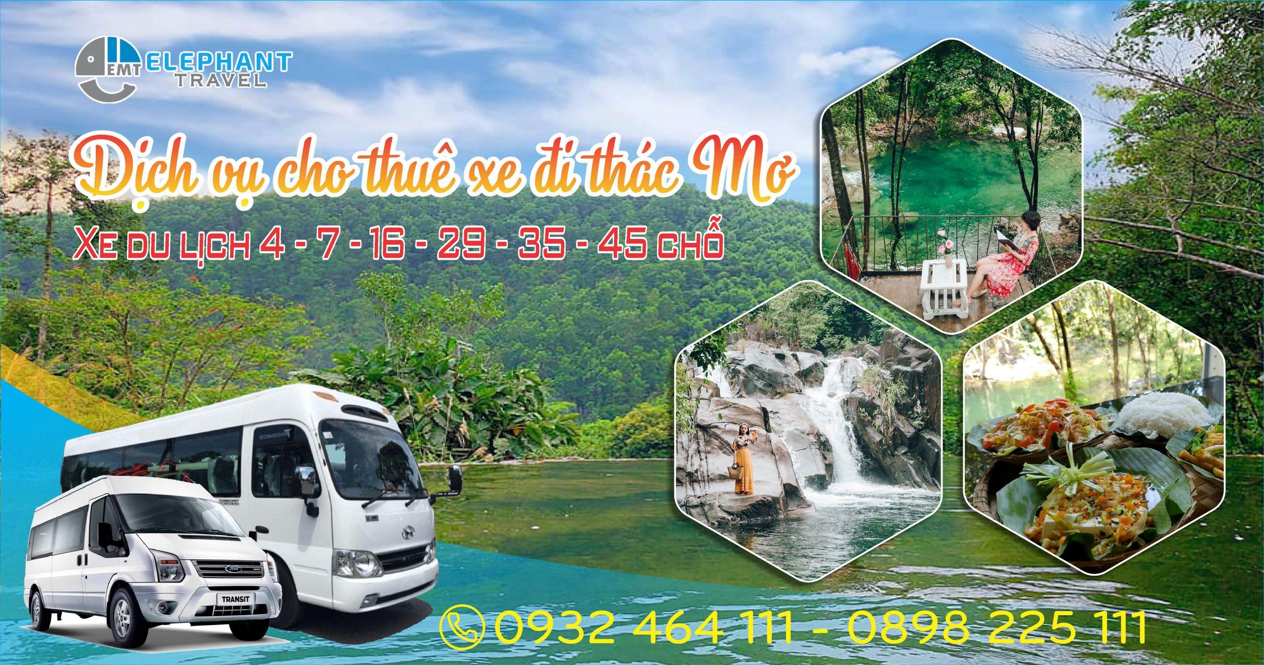 Bảng giá cho thuê xe đi Thác Mơ – HueYes Eco – điểm du lịch mùa hè mới nhất ở Huế
