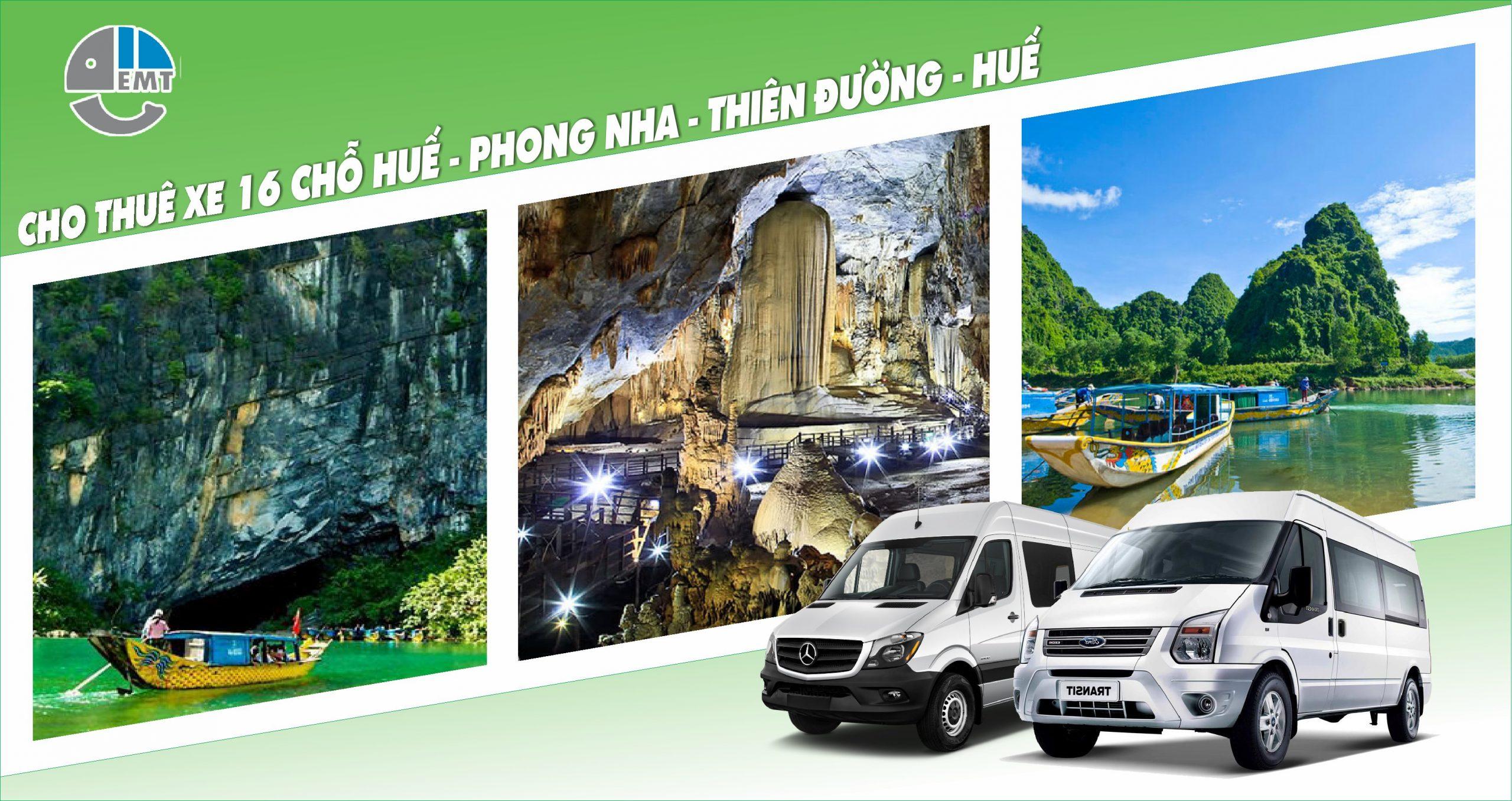 Dịch vụ thuê xe 16 chỗ đón Huế đi Phong Nha, Thiên Đường (2 ngày 1 đêm)
