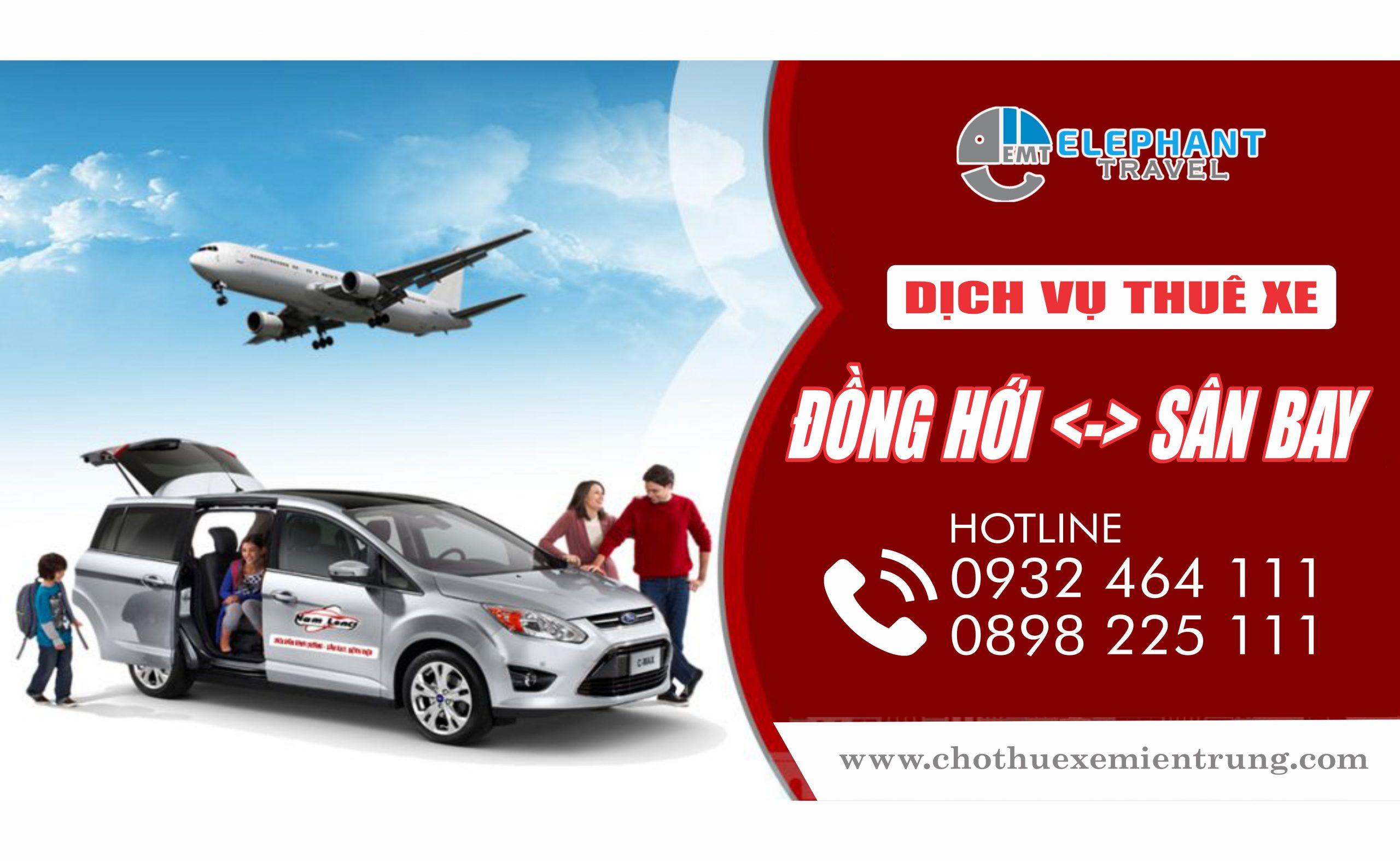 Dịch vụ thuê xe đón tiễn sân bay Đồng Hới Quảng Bình